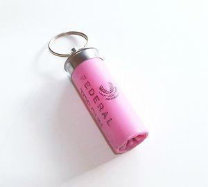 Pink Shotgun Shell Keychain