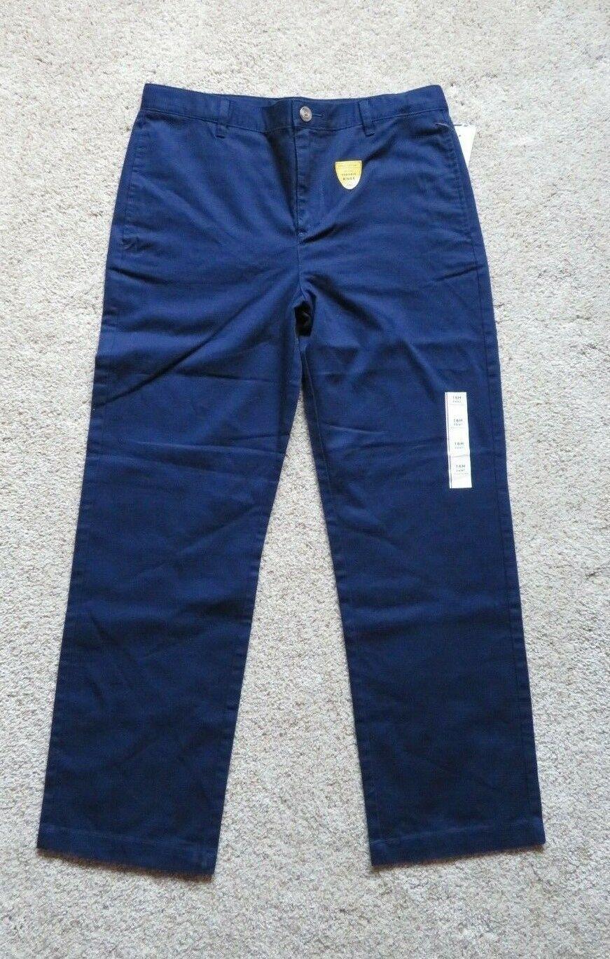 NEW Cat /& Jack Boys Pants Sizes 10 16H School Uniform Navy Blue 100/% Cotton 14
