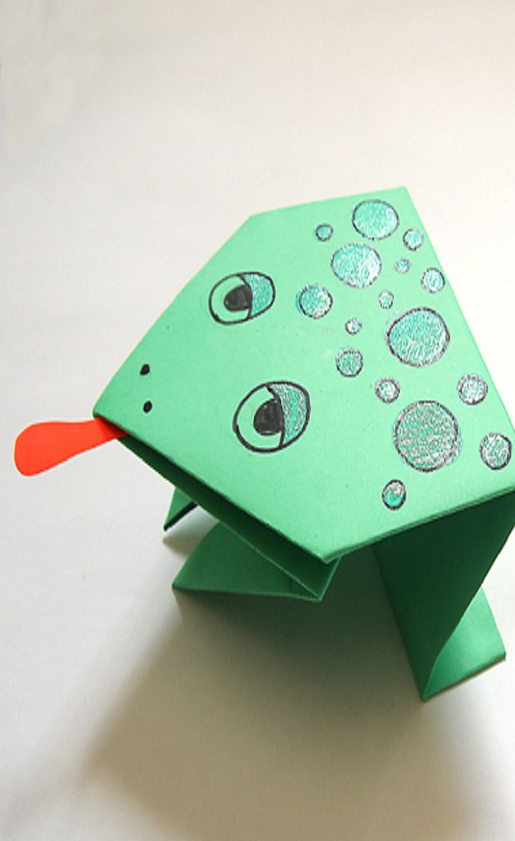 Simple Origami Jumping Frogs For Passover Passover Activity Ideas
