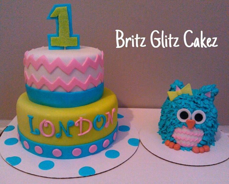 Chevron Cake Owl Smash
