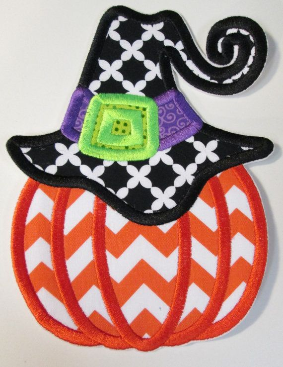 halloween iron on applique witch hat by bigblackdogdesigns