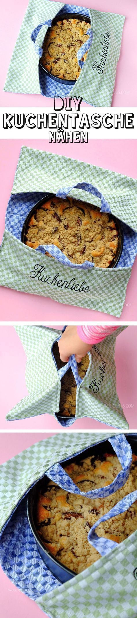 Photo of DIY Kuchentasche | Genähte Tasche für den Kuchen Transport #dishtowels DIY Kuc…