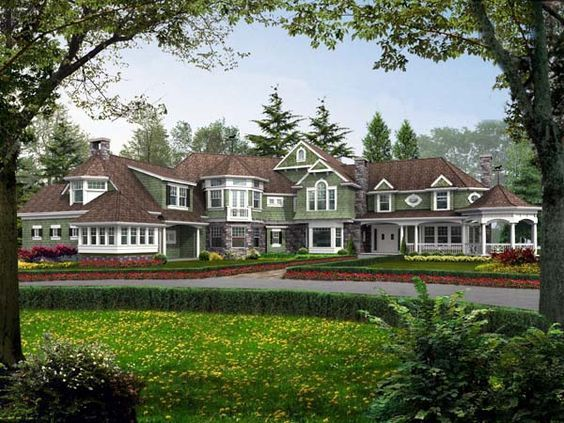 In Love Again House Plan 87641 Luxury Victorian Plan With 7400 Sq Ft 5 Bedrooms 6 Bathrooms 3 Car Garage At Family Home Plans House Ohp
