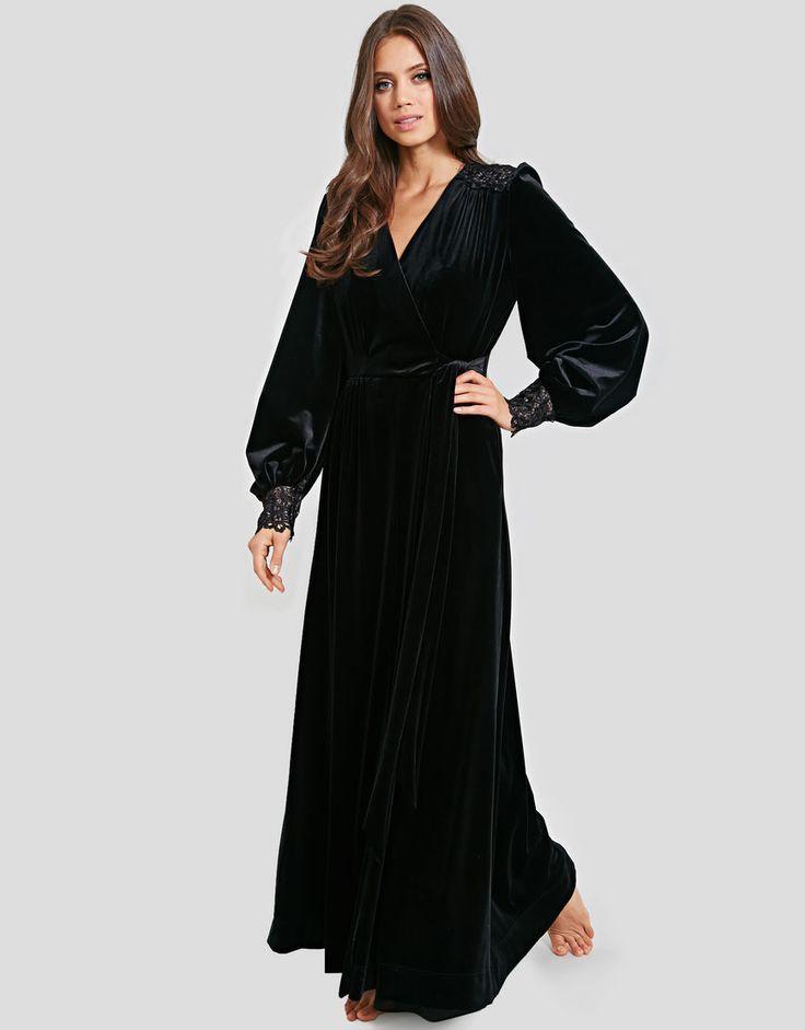 Dita Von Teese Dahlia Velvet Dressing Gown S M L State Of