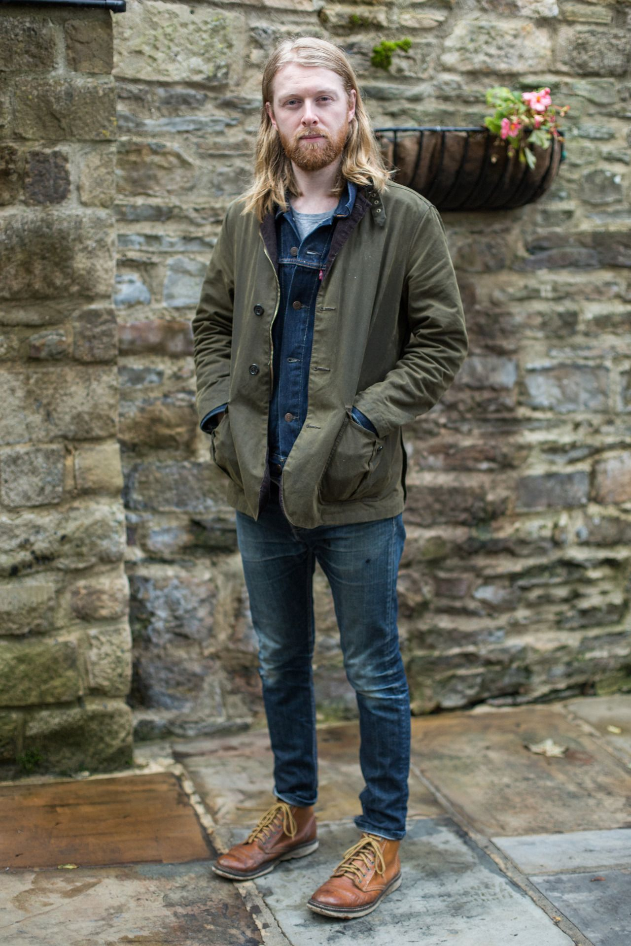 1ac9a16a964 We spotted James wearing his trusty Barbour Lutz Wax Jacket - on his way to  his favourite coffee spot in Durham!