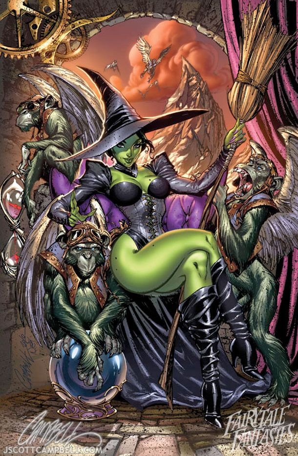 wicked witch fantasy fairytales by j scott campbell