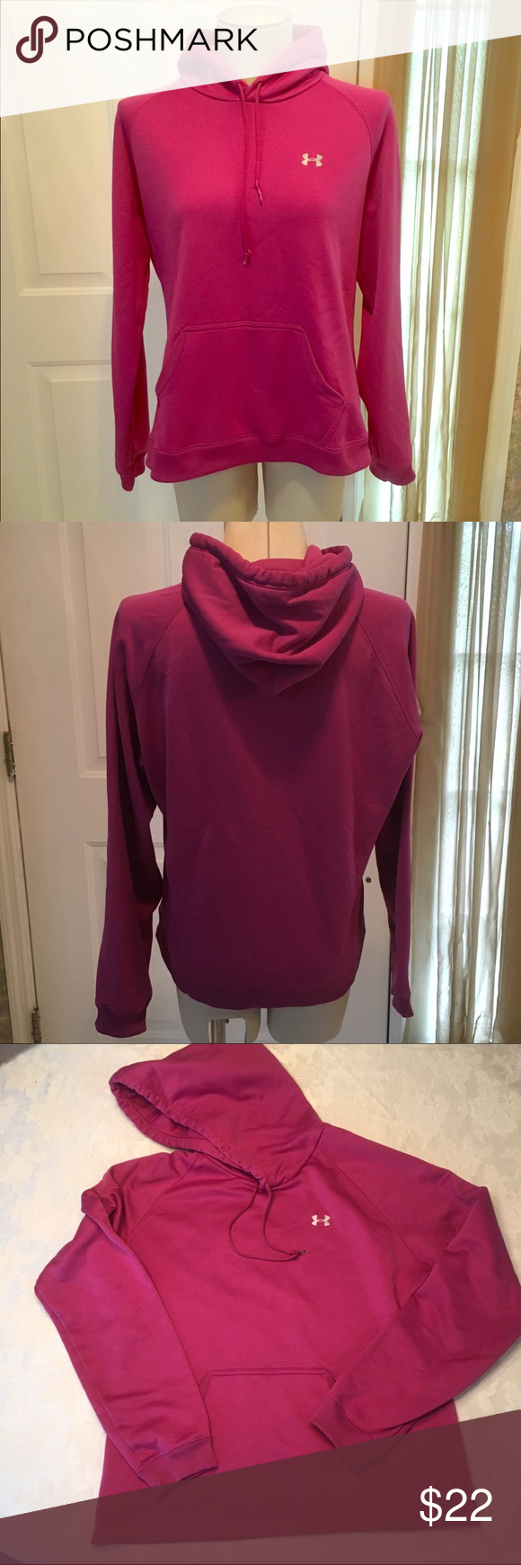 Hoodie sweatshirt Under Armour size large hoodie Under Armour Tops Sweatshirts & Hoodies