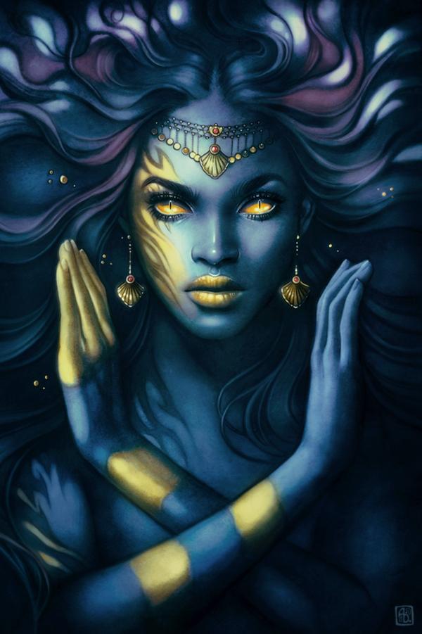 Night Goddess by Anna Dittmann (escume on DeviantArt