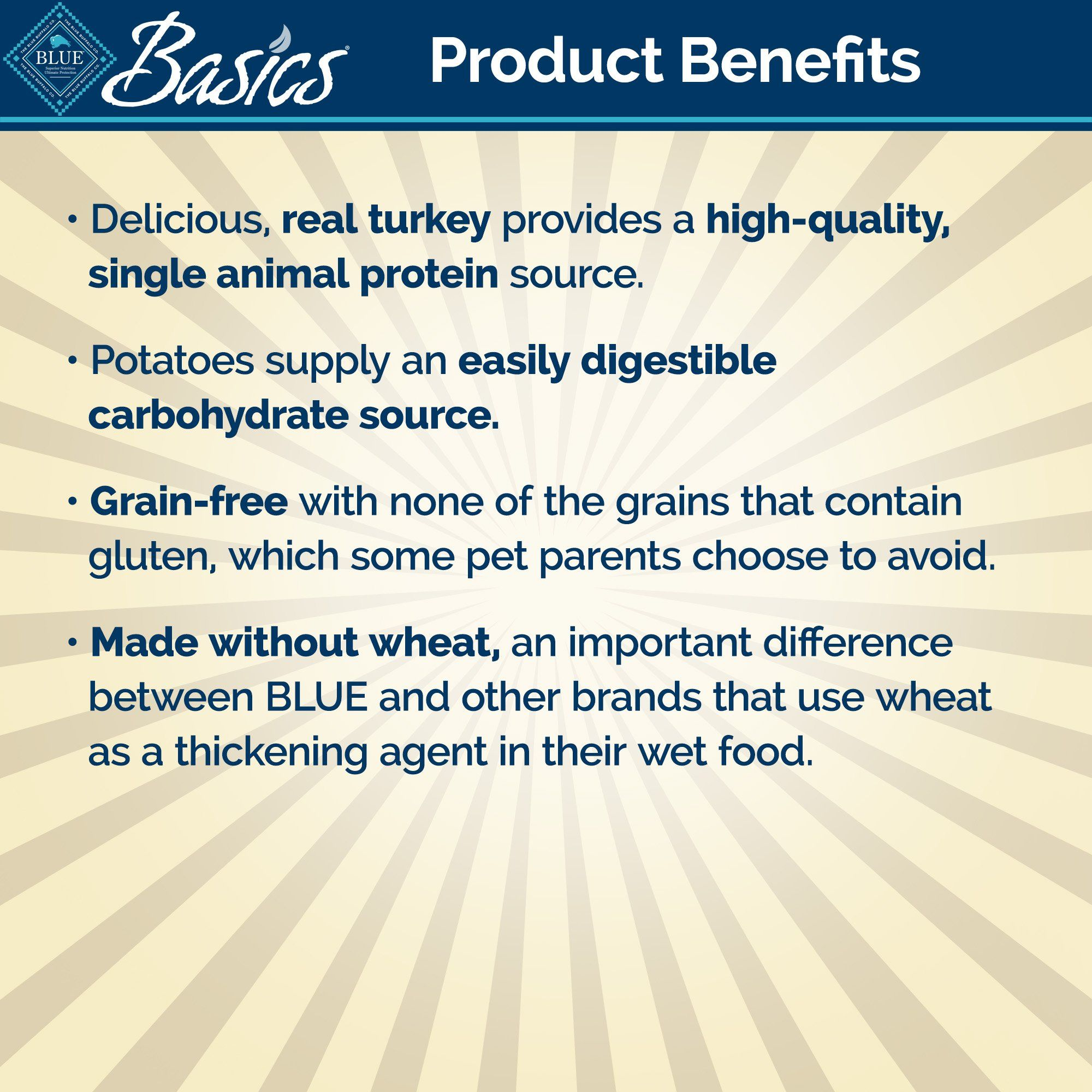 Blue Buffalo Blue Basics Grain Free Turkey Potato Recipe Wet Dog