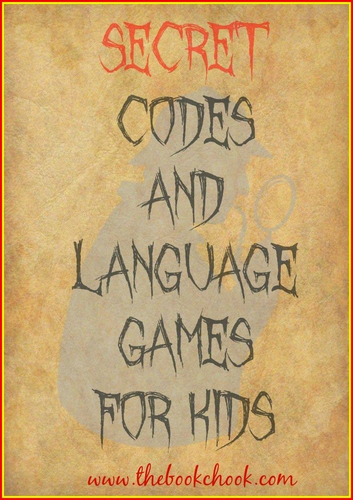 Secret codes and language games for kids secret code kid the book chook secret codes and language games for kids activities and free pdf more malvernweather Gallery