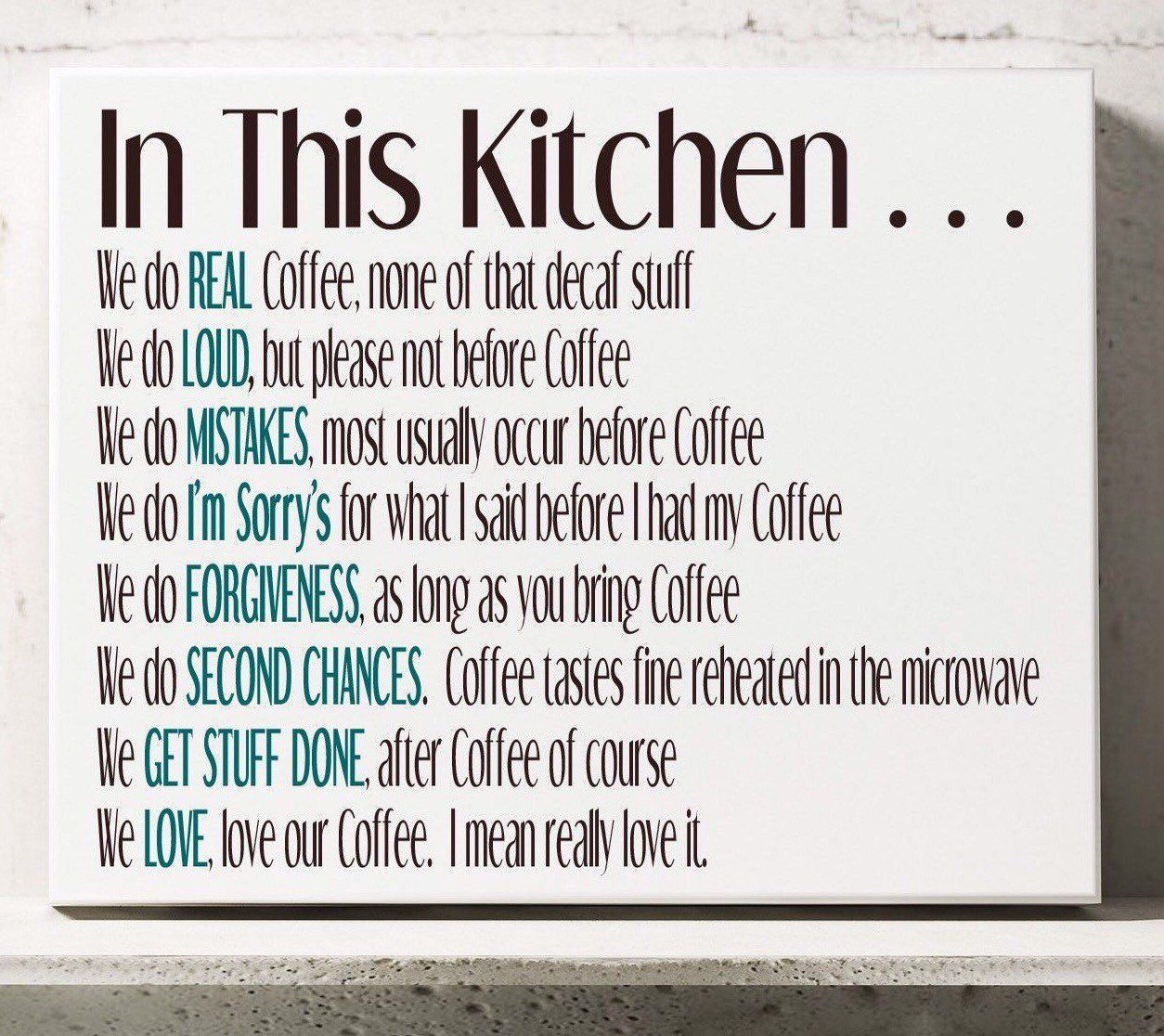 Kitchen Rules Canvas, All About Coffee, House Rules, Funny, Coffee, In this House We, In This Kitchen, Coffee Lovers #kitchenrules