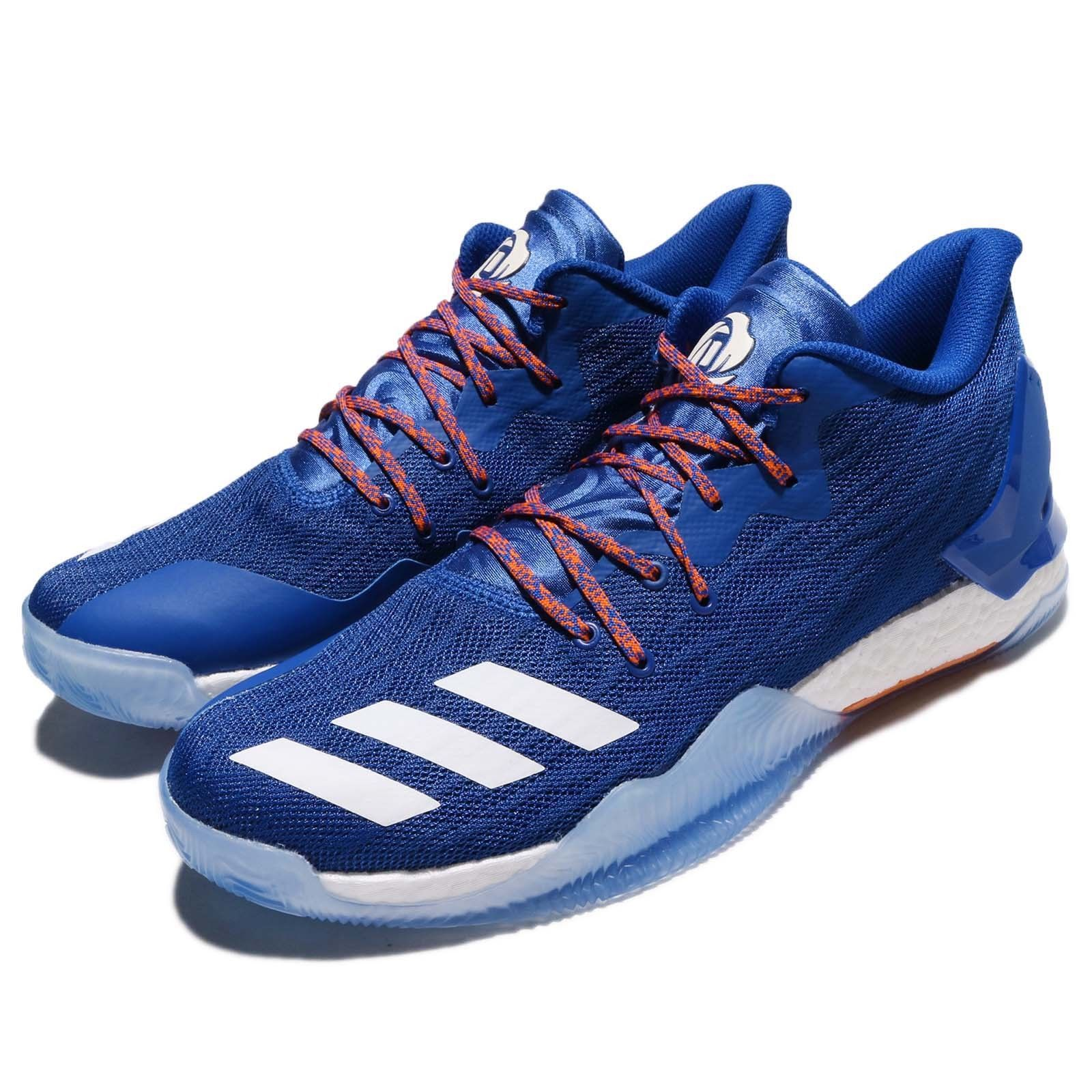609e8e768be adidas D Rose 7 Low Derrick Rose Knicks Blue Orange Men Basketball Shoes  BY4499