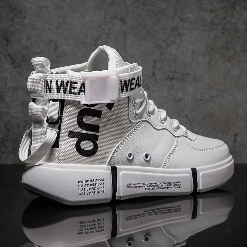 19a65110 Zanvllchy New 2019 High Top Sneakers Winter Autumn Men Casual Shoes  Breathable White Shoes Black Chaussure Homme Zapatos Hombre