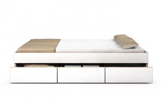Bett Multiplex Weiß Casetta 200 x 200 cm 3 Schubkästen