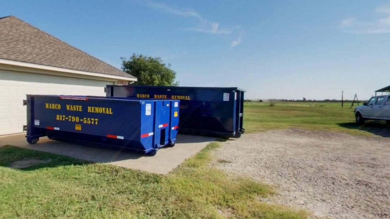 Marco Waste Removal Alvarado Tx Waste Removal Trash Hauling Dumpster Rental
