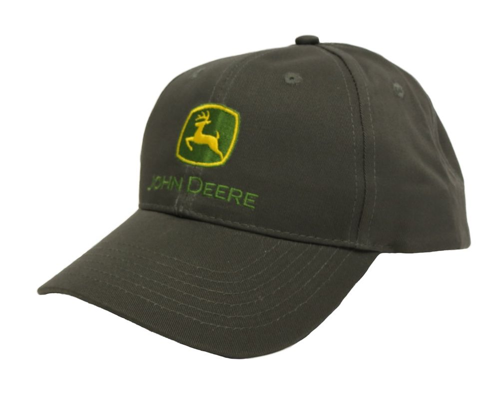 5ab145a3fdc2e John Deere Moss Cap with Green Yellow Logo Embroidery