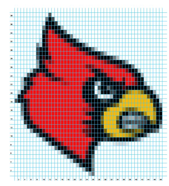 Crochet Patterns CARDINAL Color Graph Chart