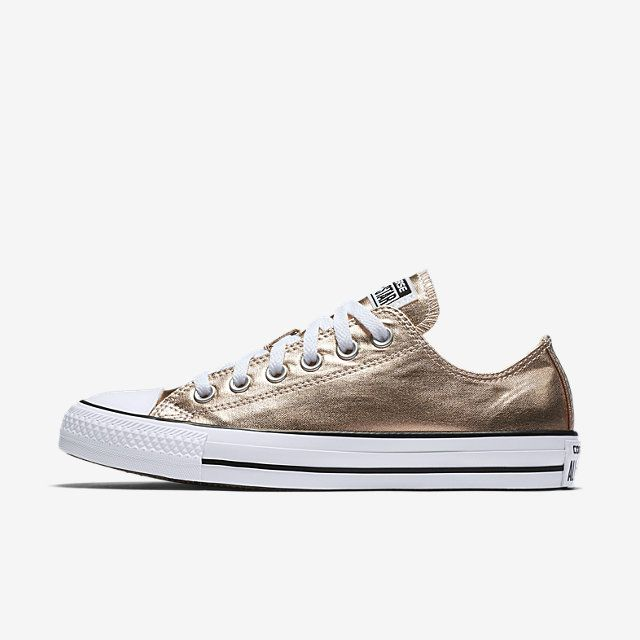 2ebe235a03f155 Converse Chuck Taylor All Star Metallic Low Top Women s Shoe-- Color Sunset  size 12
