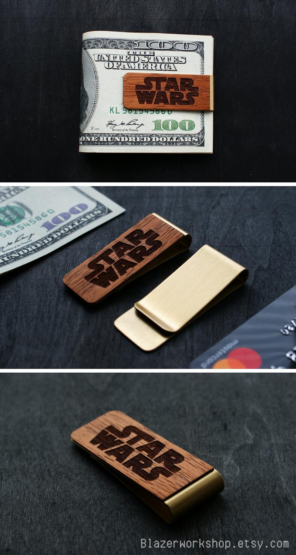 d9892ec6c2d6 Star Wars personalized money clip costom slim wallet card wallet cardholder  card holder card case minimalist