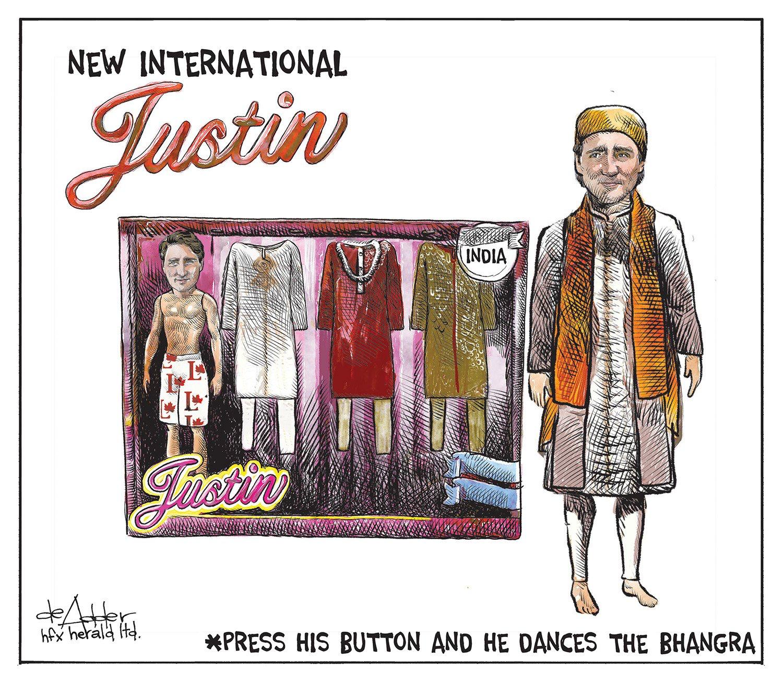 Michael de Adder Justin trudeau, The twits, Political