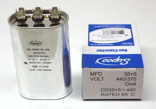 Supco Cd35 5x440 Hvac Oval Compressor Fan Motor Run Capacitor 35 5 Mfd Uf 440 Volts Biodegradable Products Fan