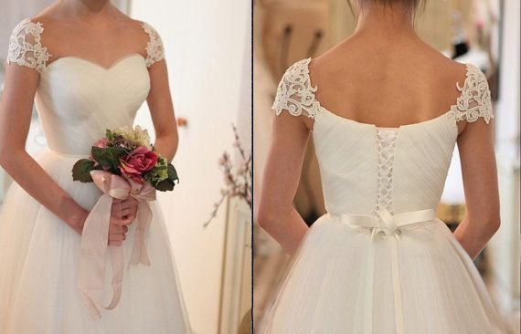 Tulle Ball Gown Sweetheart Wedding Dress Cap Sleeve Von