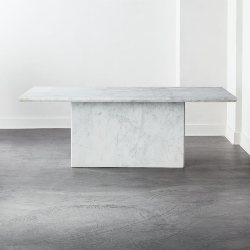 Shop Verona Marble Dining Table Stone Cold Beauty A Slab Of Thick White Marble Tops A Rectangular Dining Table Marble Marble Dining Stone Dining Table