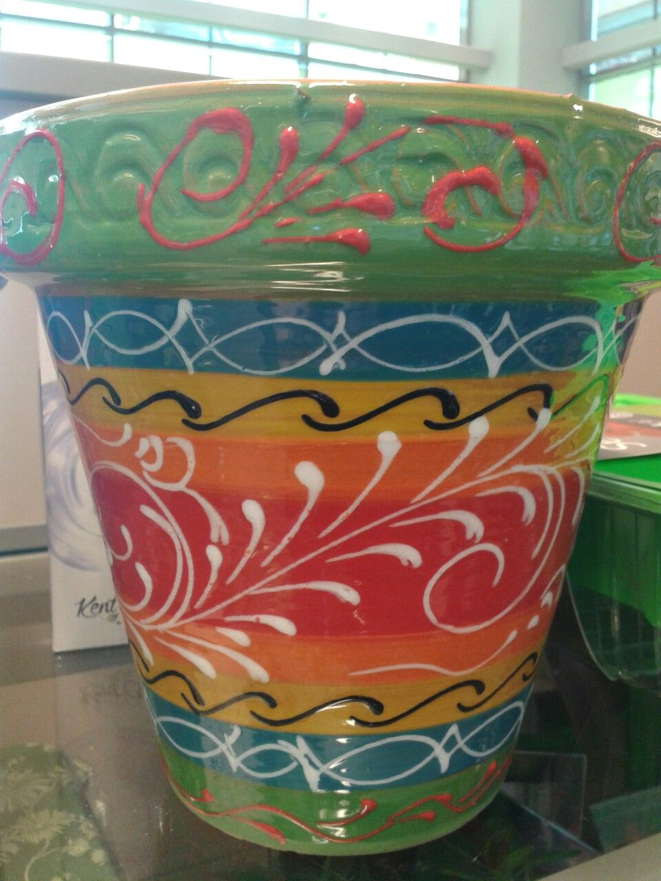 Mexican Painted Pot Flower Pots Barbary Coast Paintings