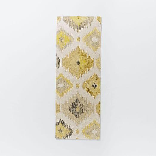 Blur Ikat Rug - Citron | west elm