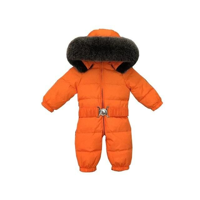 83b3d60e8 LLPLUS Toddler Infant Baby Jumpsuits Boys Girls Winter Overalls Baby  Rompers Kids Snowsuit Duck wn Children