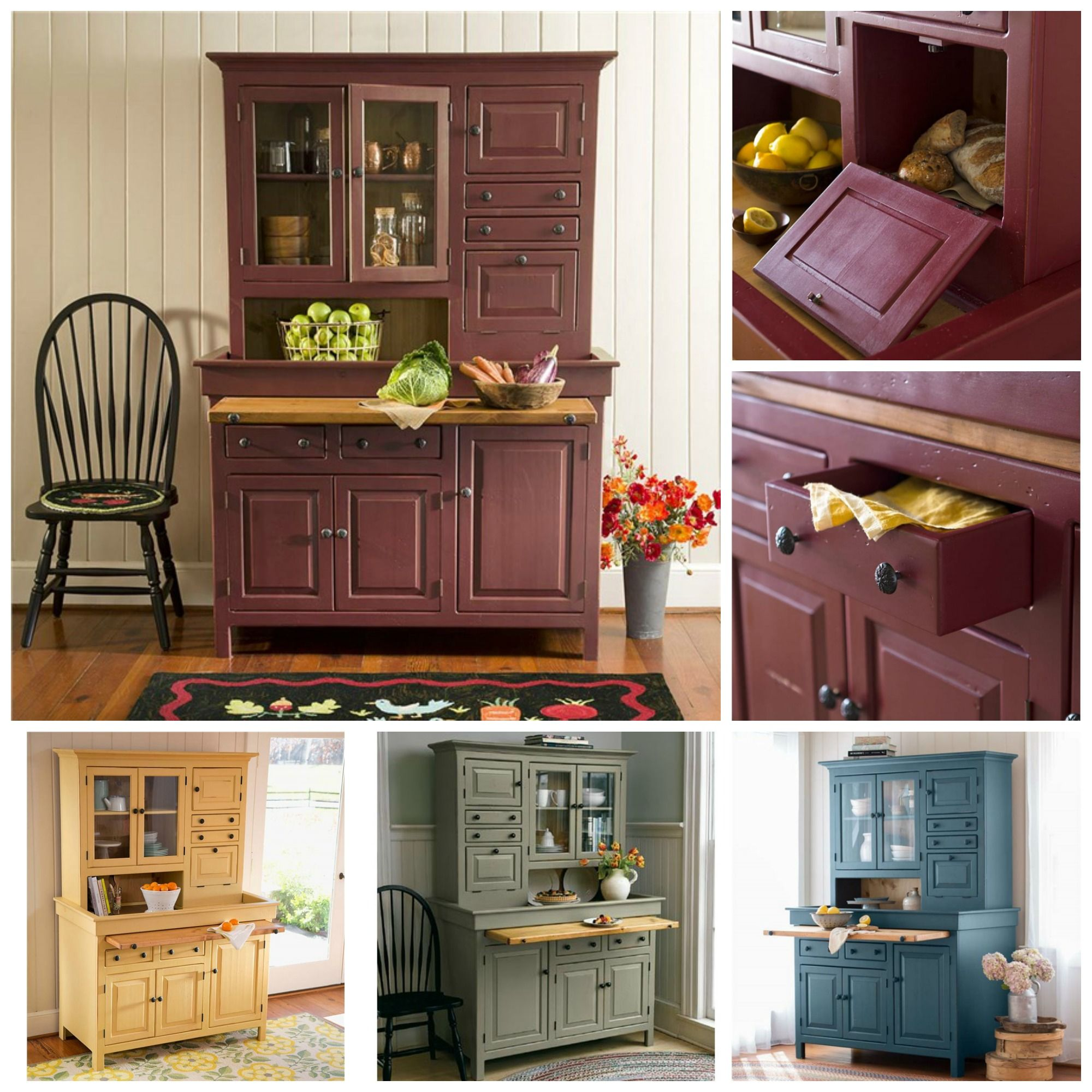 American Made Conestoga Cupboard Is Handcrafted With Handy Shelves
