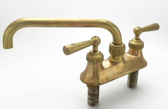 Surprise Sale Antique Salvage Victorian Crane Longneck FAUCET Solid ...