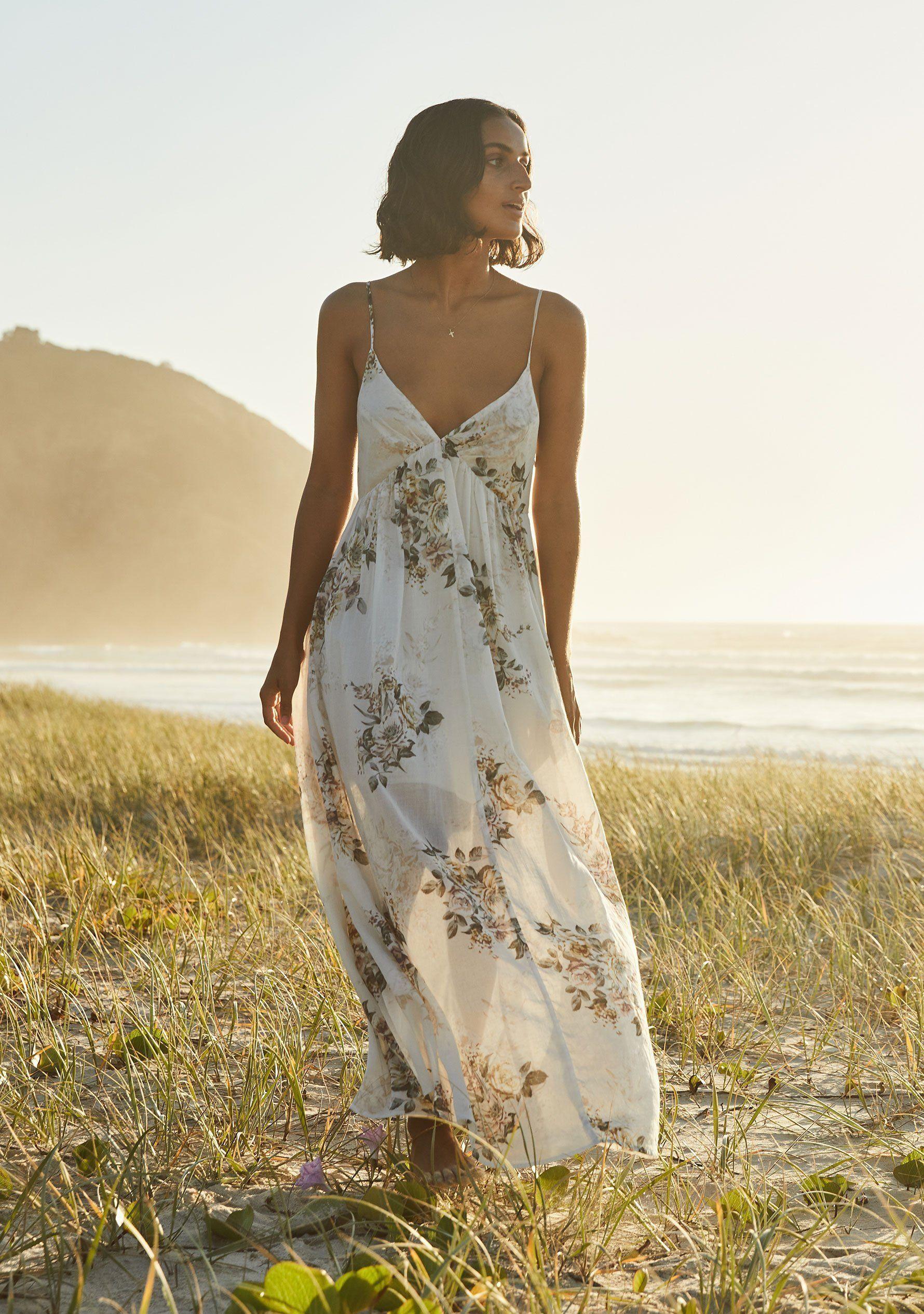 Alice Seville Maxi Dress Ivory In 2020 Maxi Dress Dresses Boho Maxi Dress