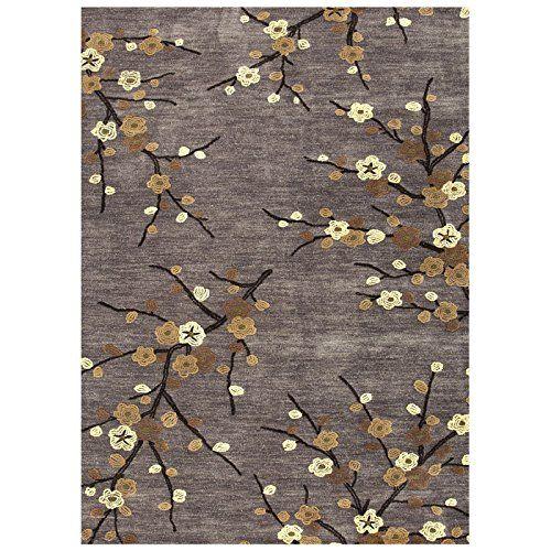 Jaipur Rugs Inc Hand Tufted Cherry Blossom Steel 7 6 By 9 Feet