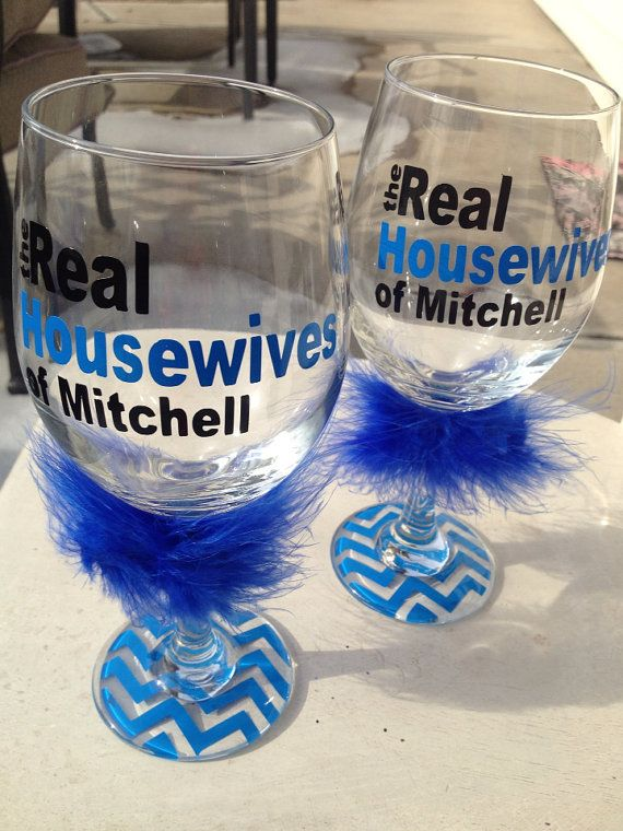 Real Housewives Personalized Customized Wine Glasses On Etsy - Custom vinyl stickers for wine glasses   for business