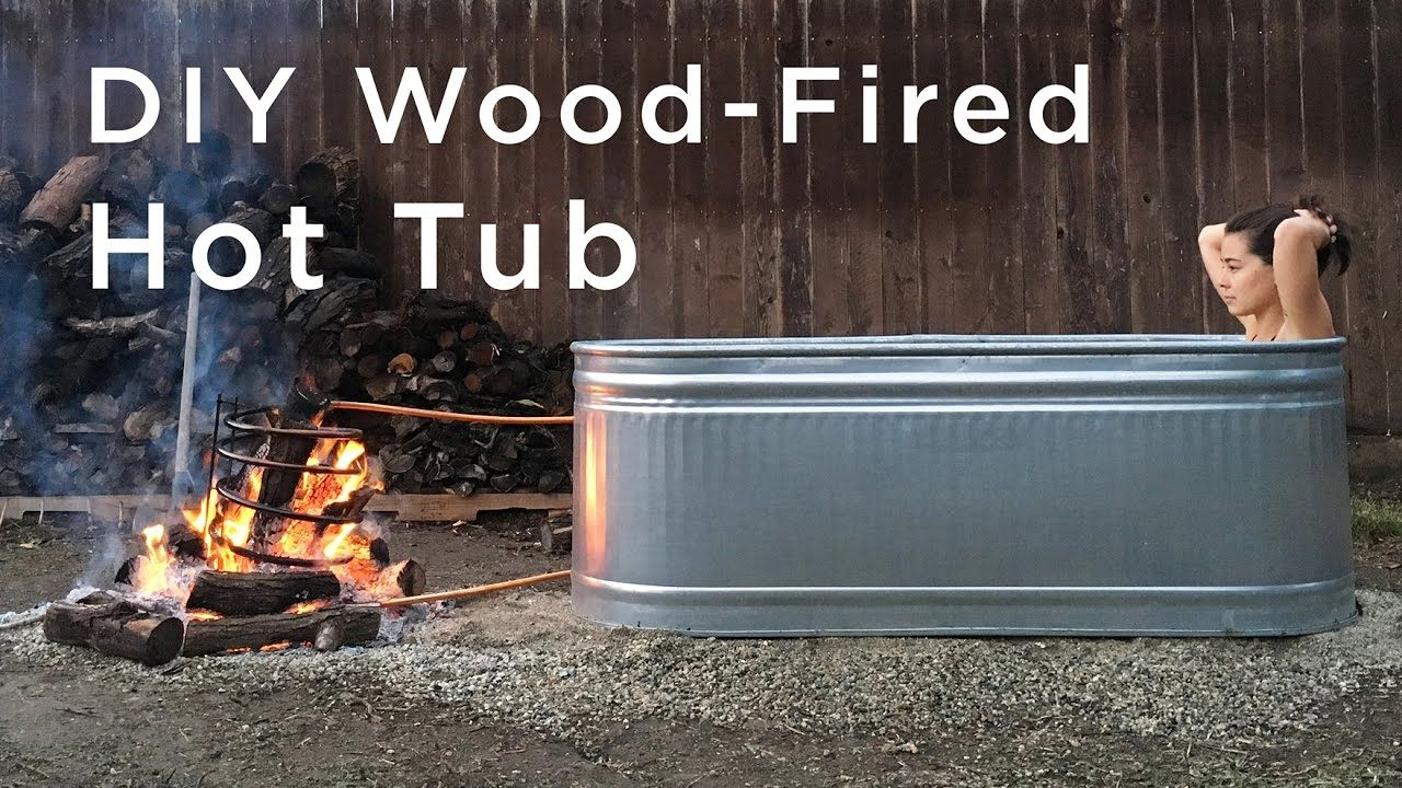 Do It Yourself Wood Fired Hot Tub Make This Stock
