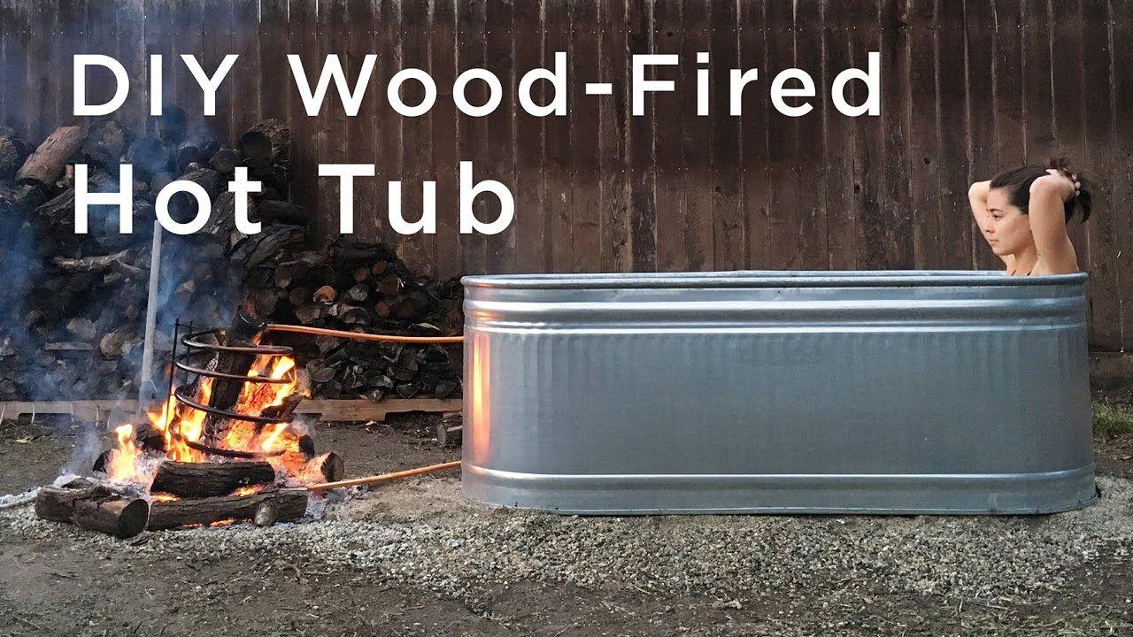 Diy wood fired hot tub portable hot tub stock tank hot