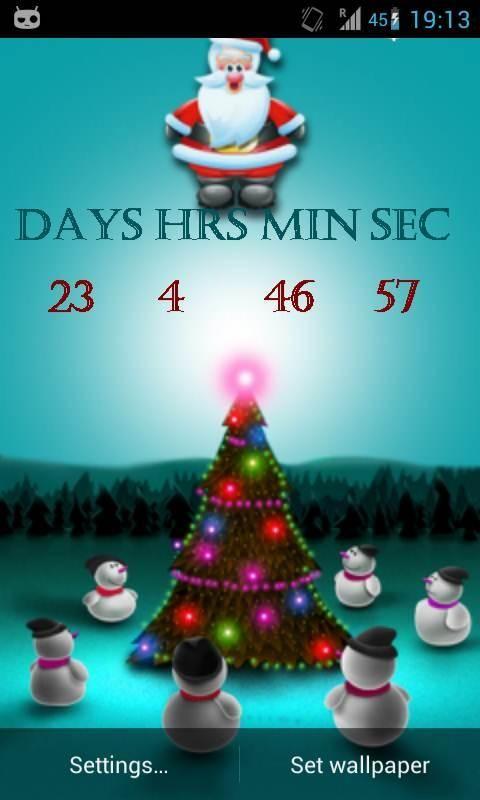 Christmas Countdown Screensaver Description Christmas Countdown Live Wallpaper Merry Christmas 2012 To Christmas Countdown Christmas Christmas Inflatables