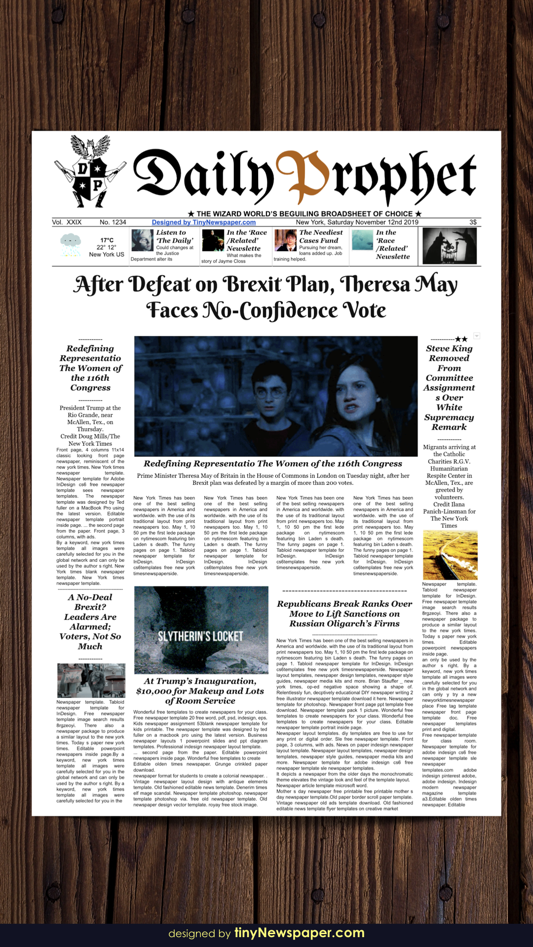 Daily Prophet Newspaper Template Google Docs Newspaper Template Template Google Poster Template