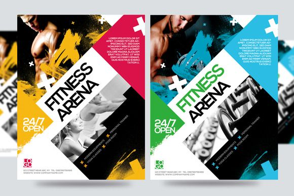 Fitness Flyer  Gym Flyer V By Satgur Design Studio On Creative