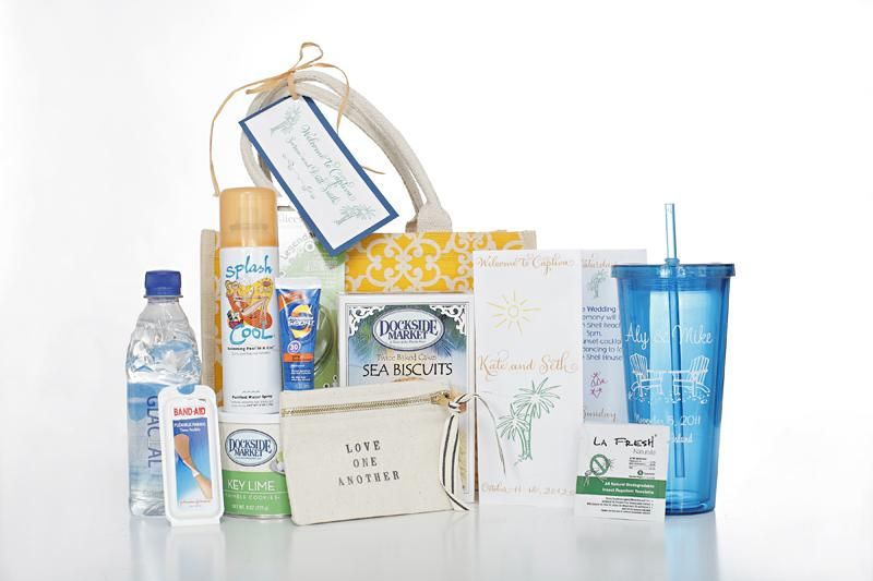 Gift Bag Ideas For Wedding Guests: Destination Weddings