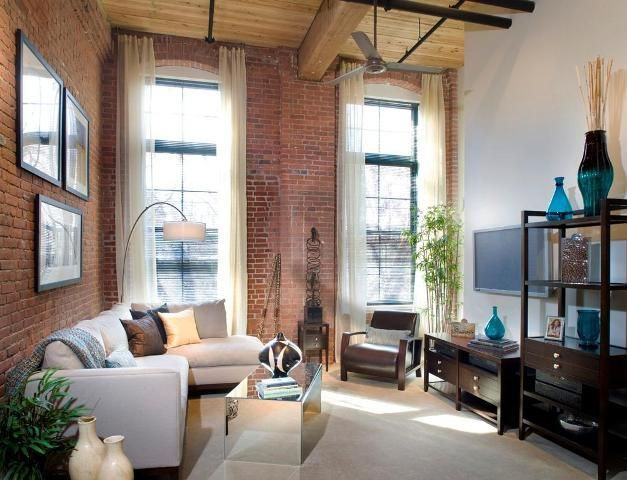 Loft Apartment Brick Modern Home Architecture Design