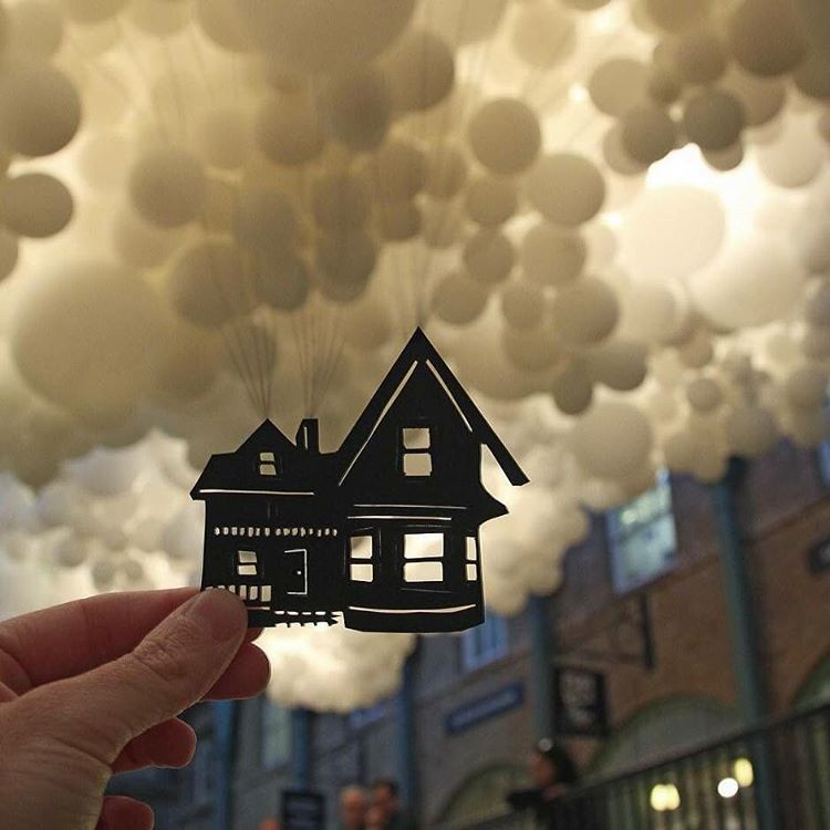 « #paperboyo #balloons #house #up »