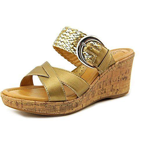 7920afd772bd Boc Born Concept Jonna Gold Wedge Sandals Women Size 7 M     Learn more
