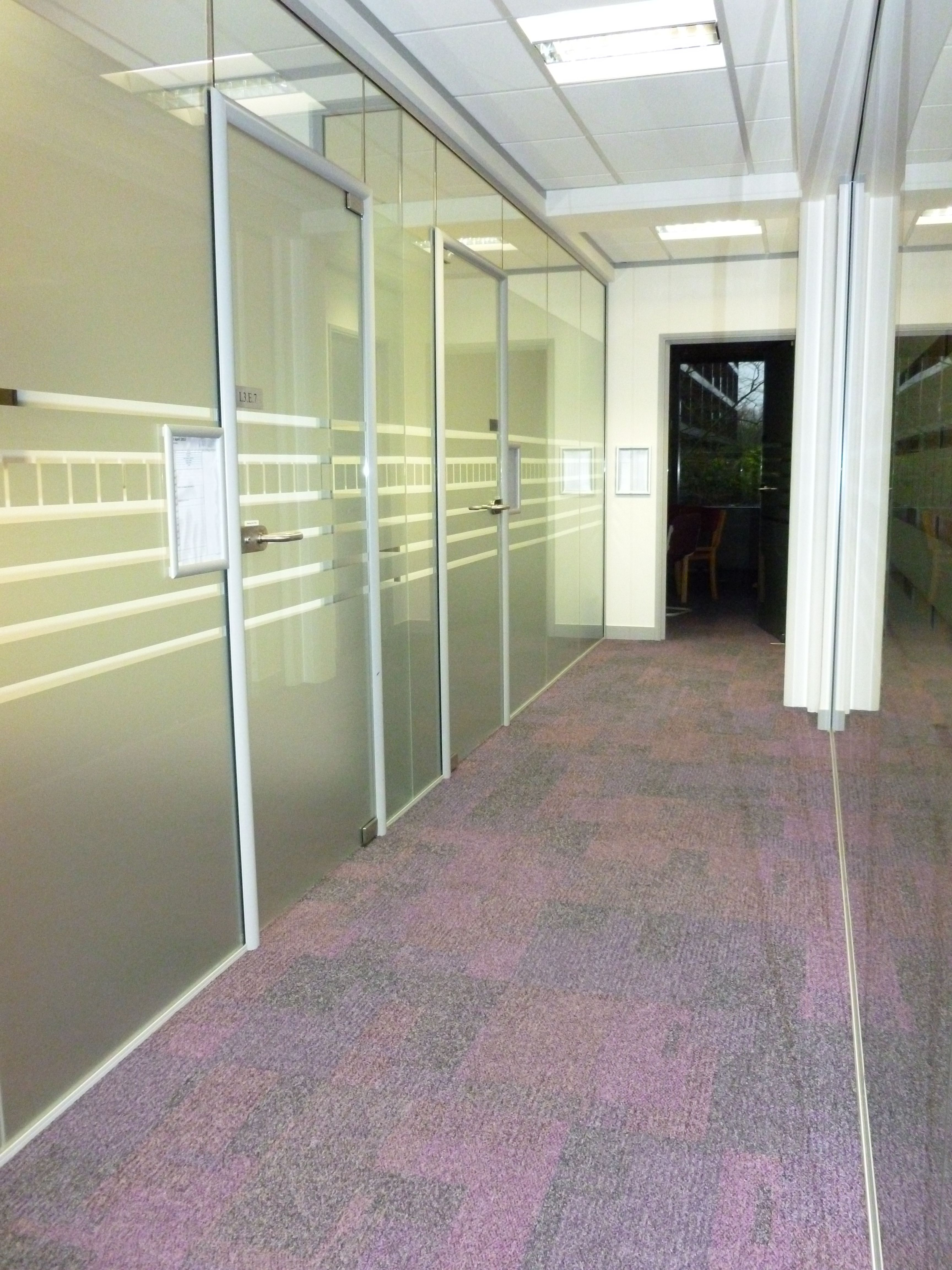 Full Height Glass Partitioning And Doors Partitioning Pinterest