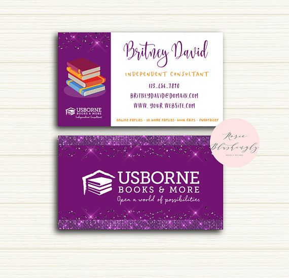 Usborne Business Cards, Usborne Consultant Business Cards, Usborne