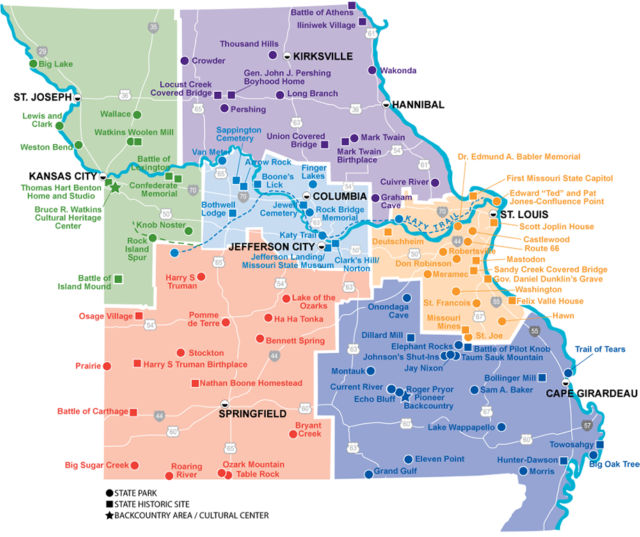 State Map Explore Mo Pinterest Park