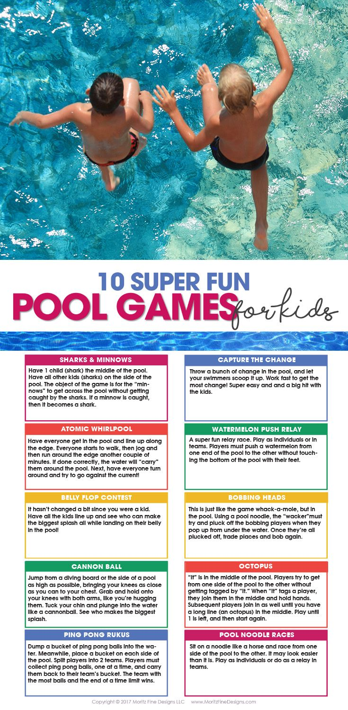10 pool games for kids u0026 free printable pool games summer fun
