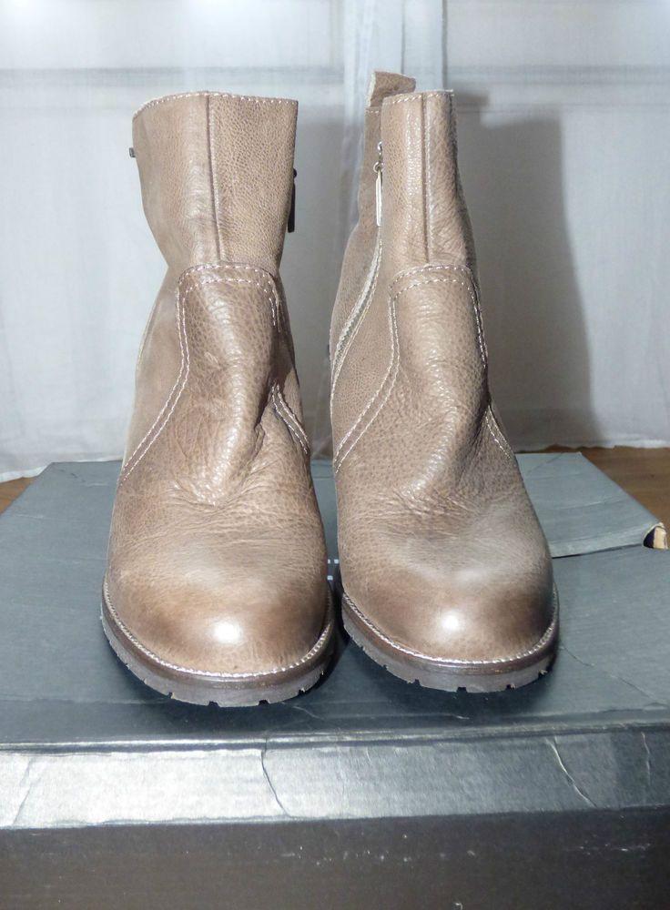 c1efd13c57f288 LOW BOOTS CUIR TAUPE IKKS - T41 | chaussures et bottes | Pinterest ...
