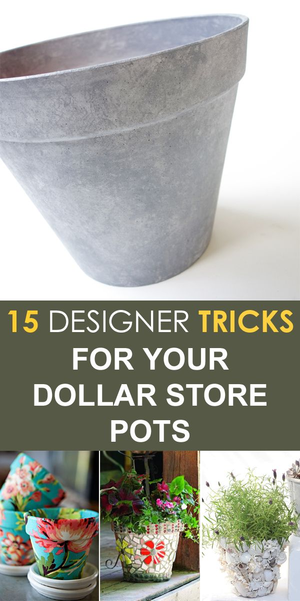 15 Designer Tricks for Your Dollar Store Pots -   19 dollar store pots